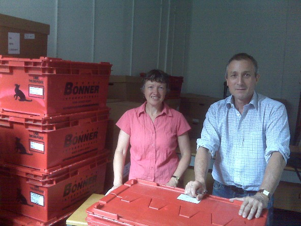 James & Anne Move into their New Office
