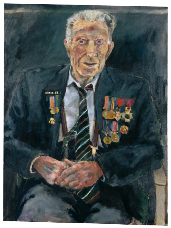 Dan Llywelyn Hall - Harry Patch, 70 x 100cm, © Daniel Llywelyn Hall