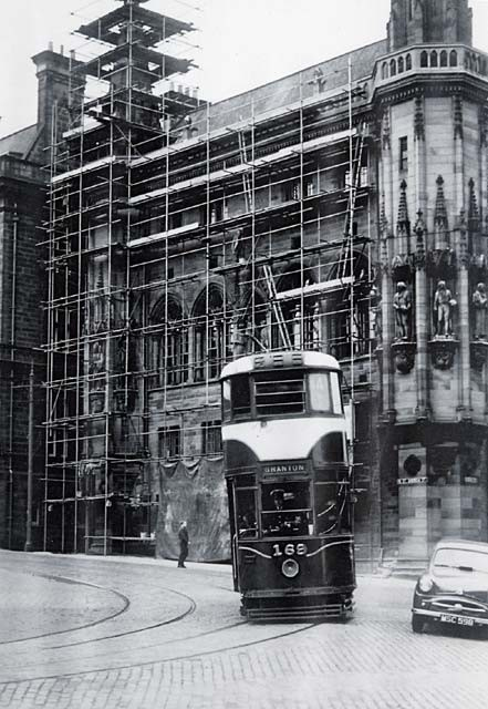 Tram passing the SNPG, c. early 1950s © Lothian Buses