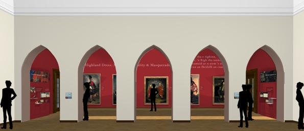 Studioarc preliminary design for the arcade space off the Raeburn Room